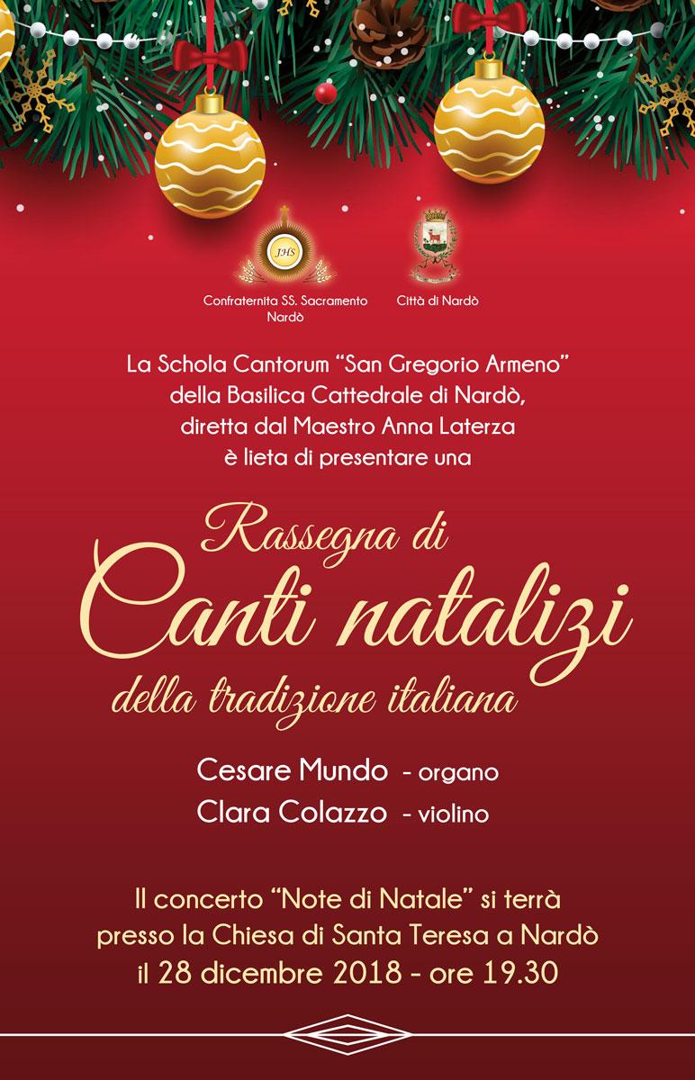 Nardò. 28 dicembre. Rassegna di canti natalizi nella chiesa  di Santa Teresa