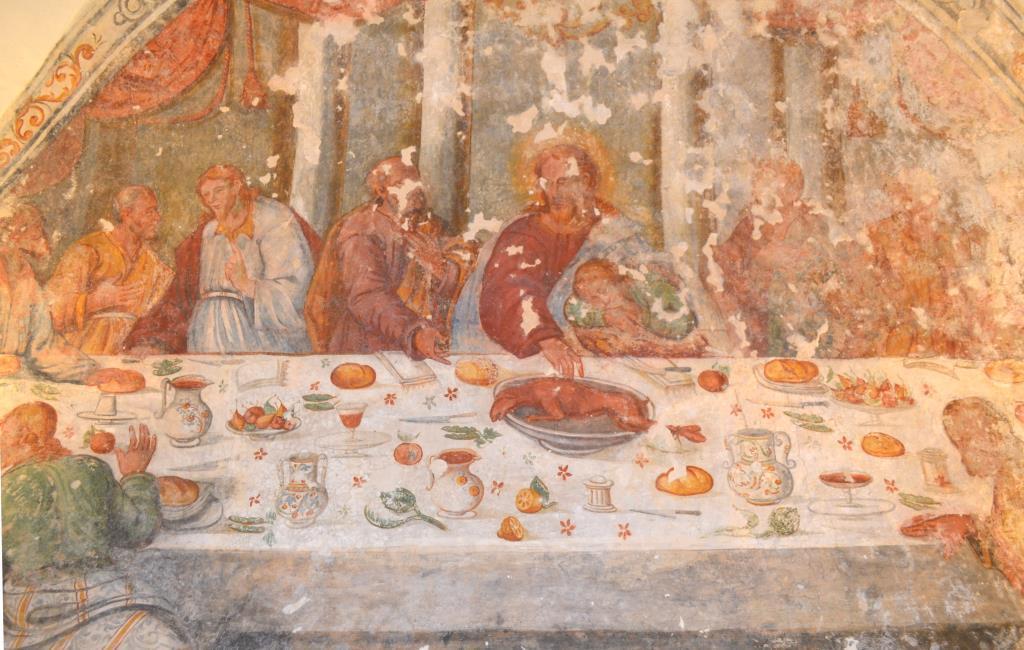 L'Ultima Cena nel refettorio della Madonna della Favana di Veglie