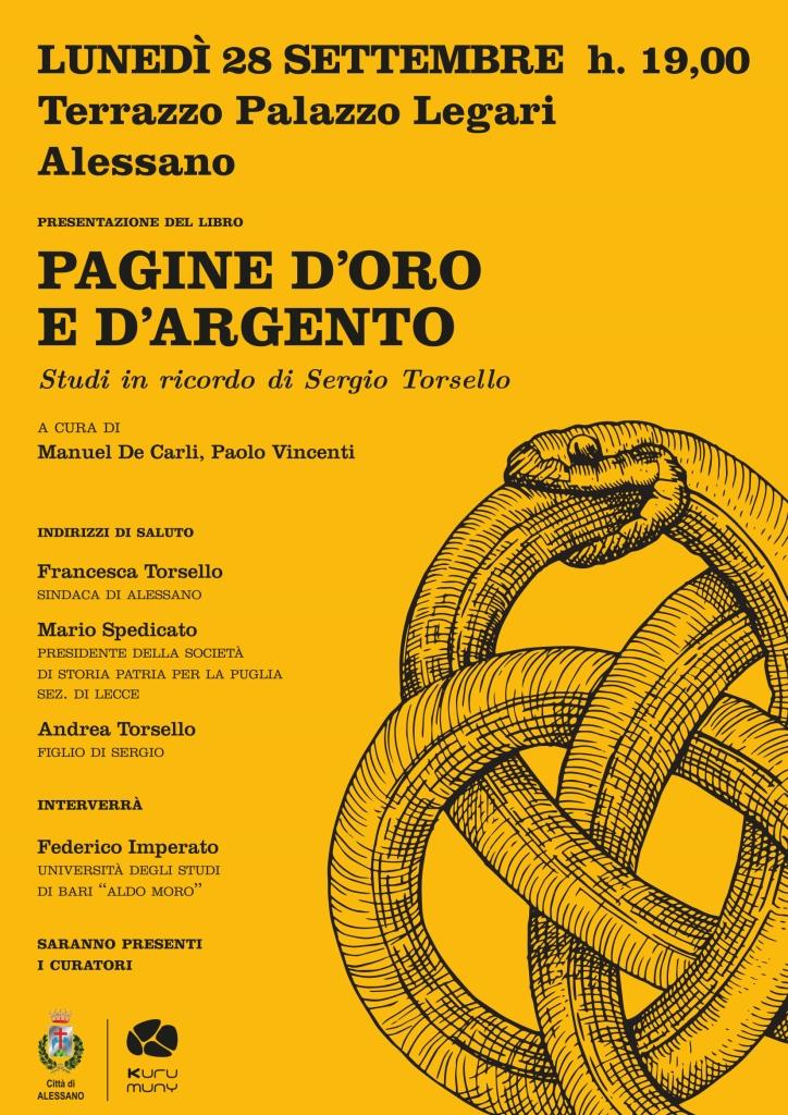 Libri| Pagine d'oro e d'argento. Studi in ricordo di Sergio Torsello