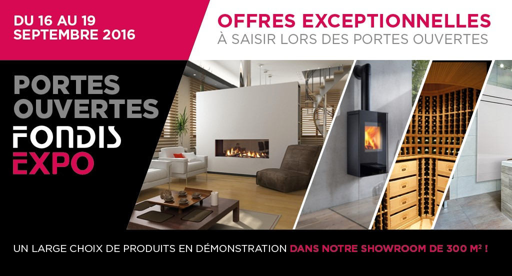 Showroom Fondis Expo portes ouvertes du 16 au 18 septembre 2016