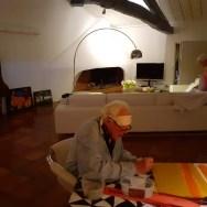Dans la salle blanche, Fronsac juillet 2020, signature des Carreaux de ciment, Serge et Rosy #03