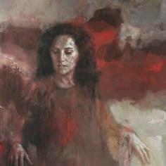 Les contes, 146x101 cm acrylique et huile sur toile, Lucie Geffré 2020