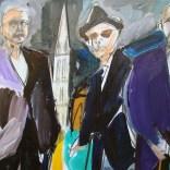Les trois compagnons, Serge Labégorre 2020, 30P 65x92 cm at#01