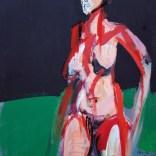 Nu féminin fond noir et vert, Serge Labégorre 2020, format 70 140x100 cm at#10