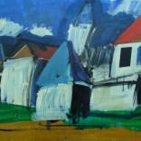 Paysage des bords de Dordogne, Serge Labégorre 2020, 25P 60x81 cm at#07
