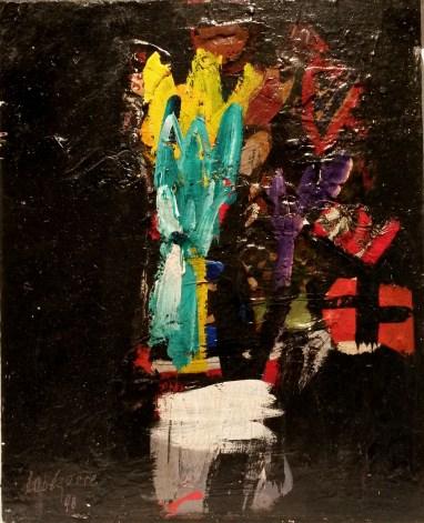 Bouquet, Labégorre 1998, 61x50 cm 12 F, Acrylique sur bois