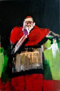 Cardinal, Labégorre 2004_195x130 cm 120F acrylique sur toile