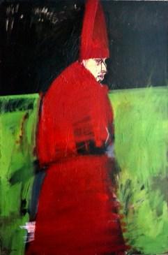 Cardinal mitré, Labégorre 2004_195x130cm acrylique toile
