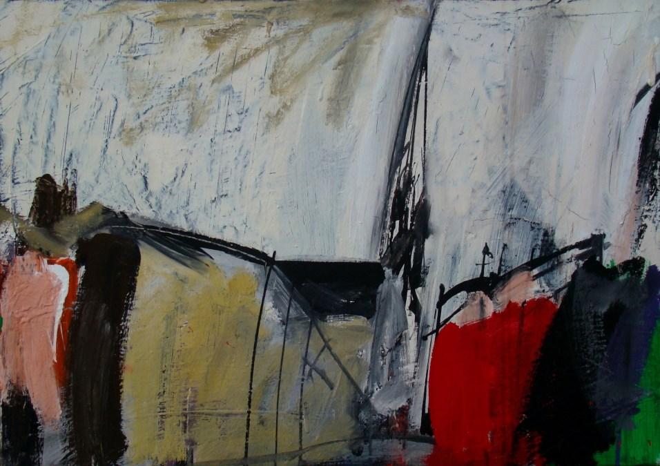 Cocumont , Serge Labégorre 2009_ 50x73 cm acrylique sur toile