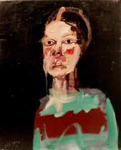 Enfant, Serge Labégorre 2010 _ 61x50 cm 12F acrylique sur toile