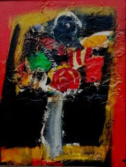 Fleurs, Serge Labegorre 1983_65x50 cm 15P acrylique ou huile sur bois