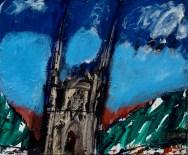 La Chapelle Montligeon, Serge Labégorre 2010 - 54x65 cm 15F acrylique sur toile