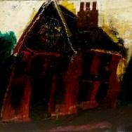 La maison solitaire, West Sussex, South Down_Labégorre 1974_50x70cm acrylique sur toile