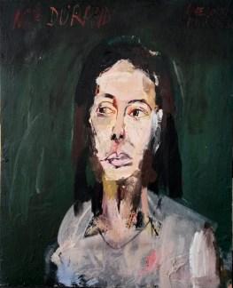 Madmoiselle Durand, Pau_Serge Labégorre 1963_61x50 cm 12F acrylique sur bois