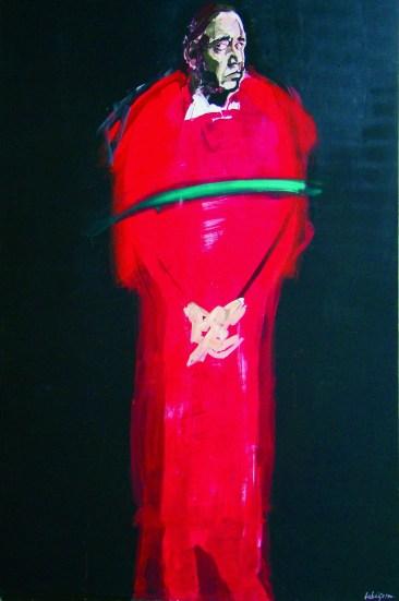 Monseigneur treize, Serge Labegorre 2013 _ 195x130 cm acrylique sur toile