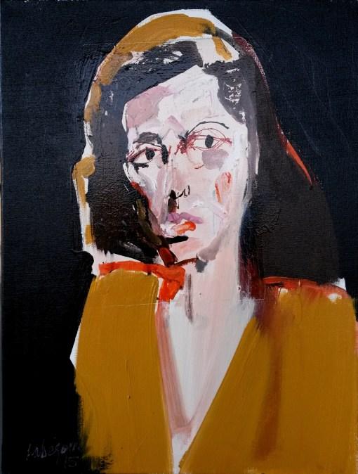 Portrait de Jenny_Labégorre 2015_61x46cm 12 F acrylique sur toile