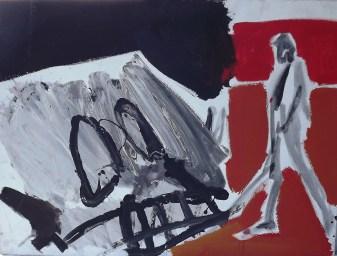 Sans titre ou On dirait Richard Gere sur un quai de gare_Labegorre 1996_60x81 cm_25 P acrylique sur bois