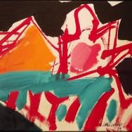Urt le fronton, Serge Labégorre 1992_35x50 cm ass 10M acrylique sur toile