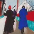 Aramits, le chemin de l'église, Serge Labégorre 2019, 75 x 54 cmacrylique sur toile #01