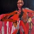 Femme au divan rayé, Serge Labégorre 2009, 146 x 114 cm 80F at#03