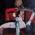Femme au fauteuil rougen Serge Labégorre 2011, 146 x 114 cm 80F at #01