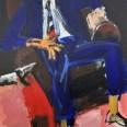 L'homme au fauteuil club, Serge Labégorre 2010, 195x130 cm 120F at#01