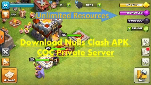 Nulls Clash APK COC Private Server FoneTimes.com