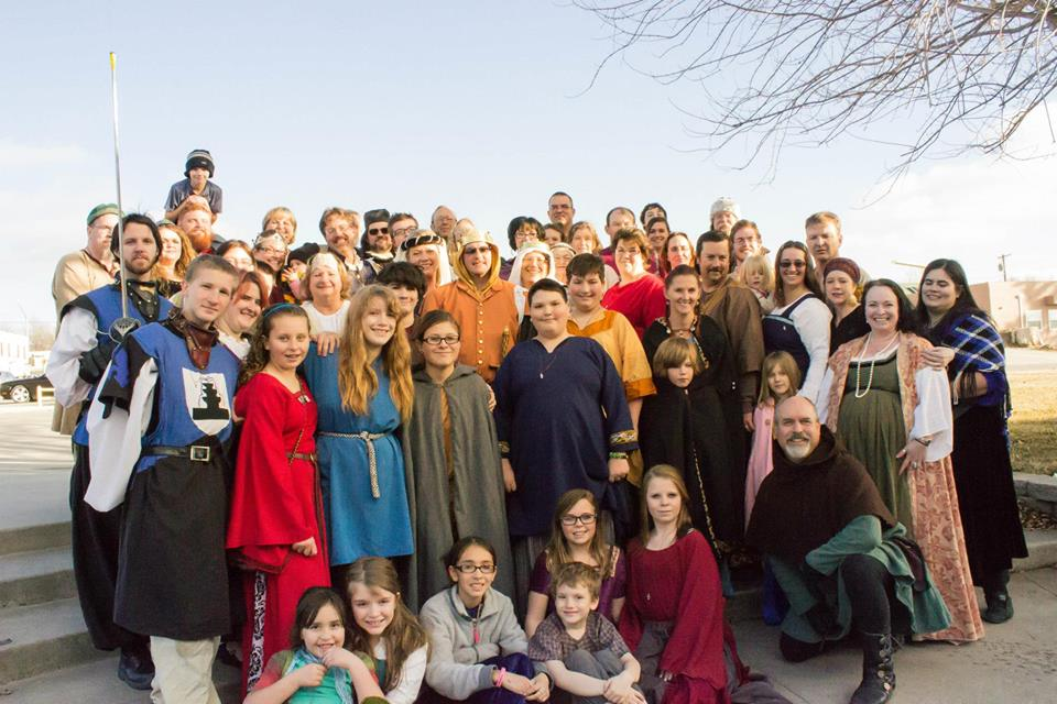Group photo of the members of the Barony in 2015