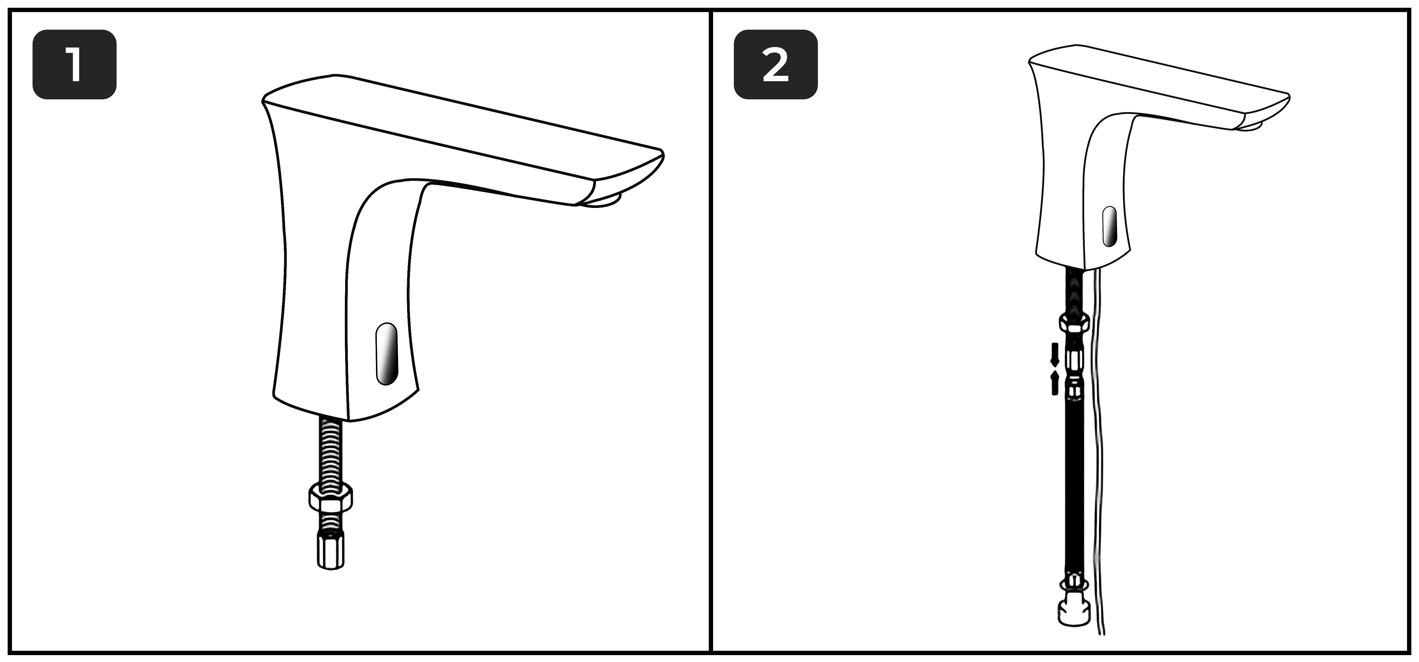 Touchless Basin Automatic Commercial Sensor Faucet