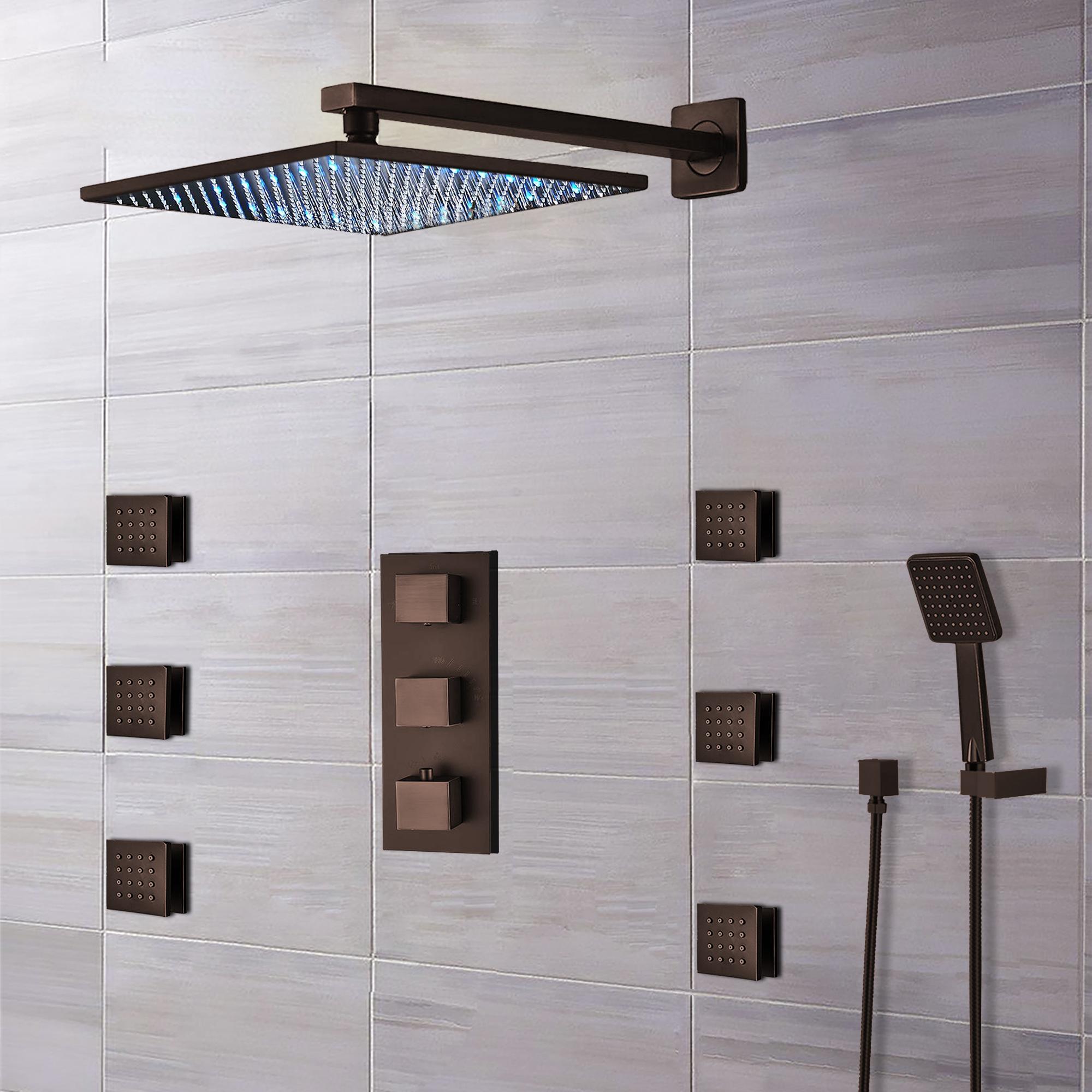 fontana sierra light oil rubbed bronze led shower system