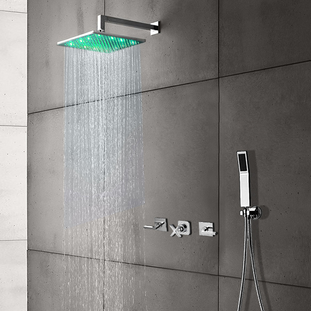 led color changing shower faucets