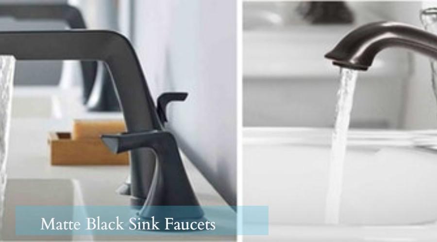 matte black bathroom faucets