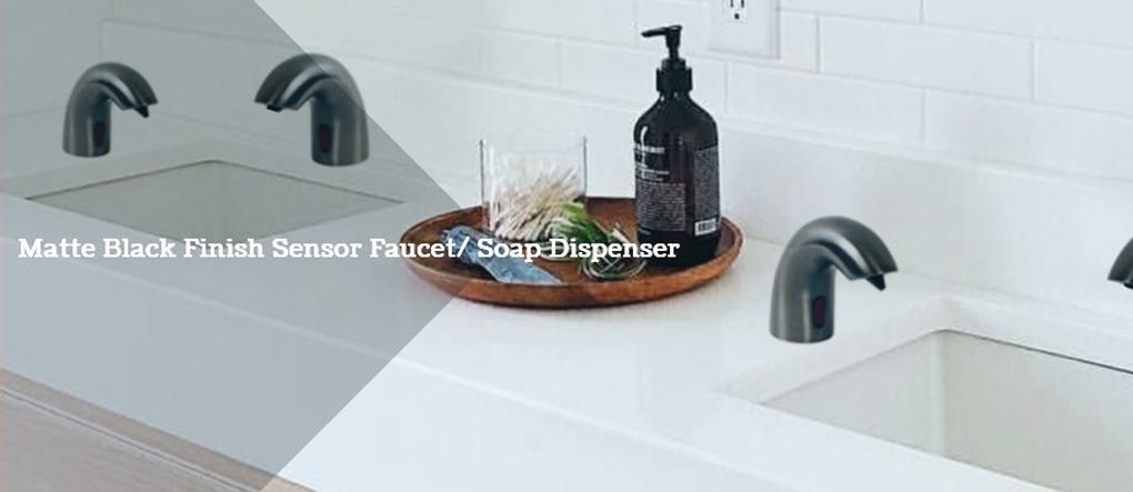 matte black finish sensor faucets deck