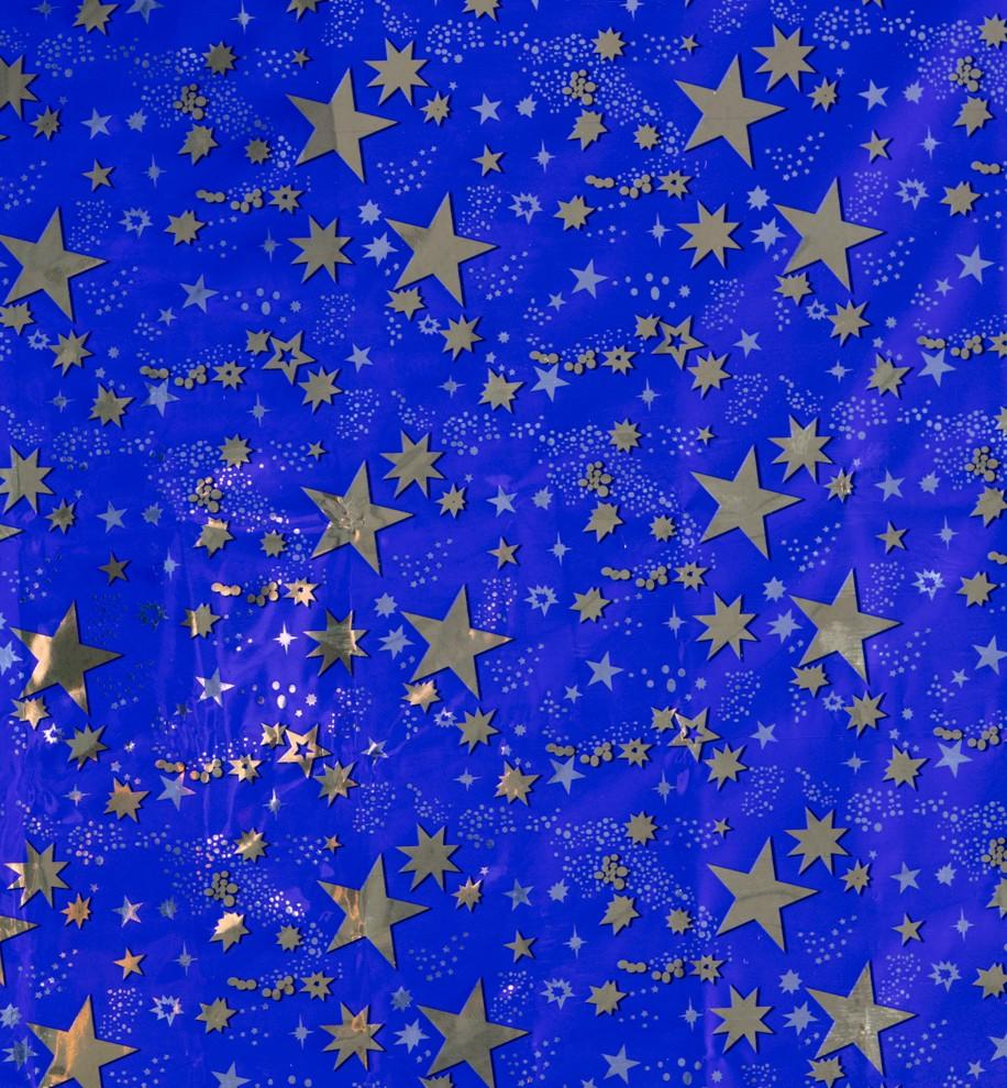 rouleau de fond de ciel etoile dore 100x70 cm