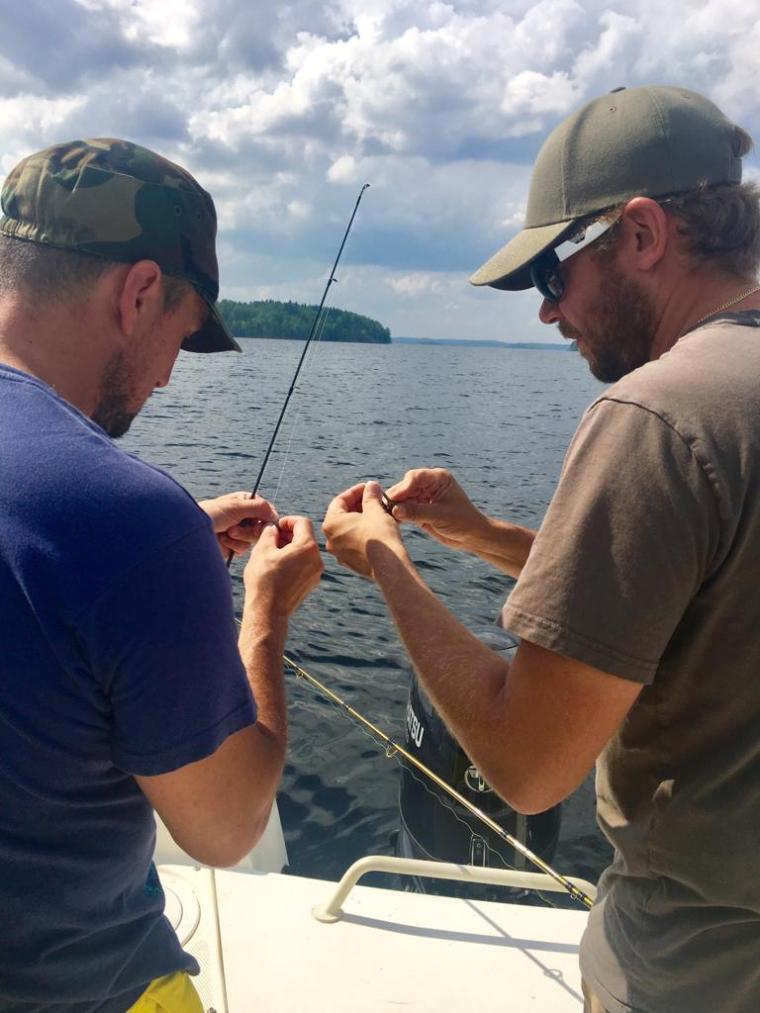 Pescare in Finlandia d'estate