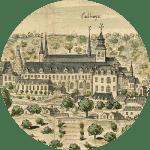 Vue d'ensemble de l'Abbaye Royale de Fontevraud - 1699 - par Gaignière