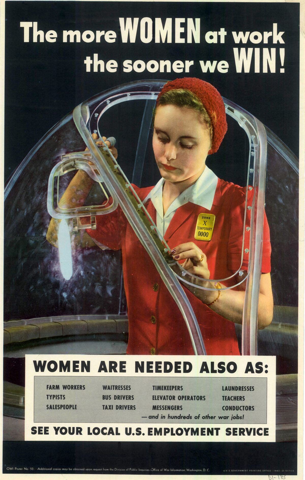 Vintage Government Poster Women At Work