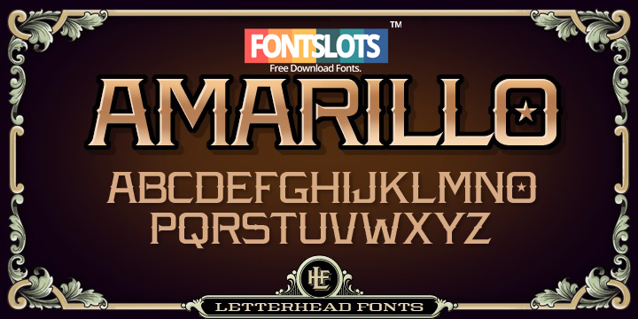 LHF Amarillo Bold Font