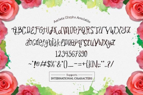 Aarleta Typeface 1
