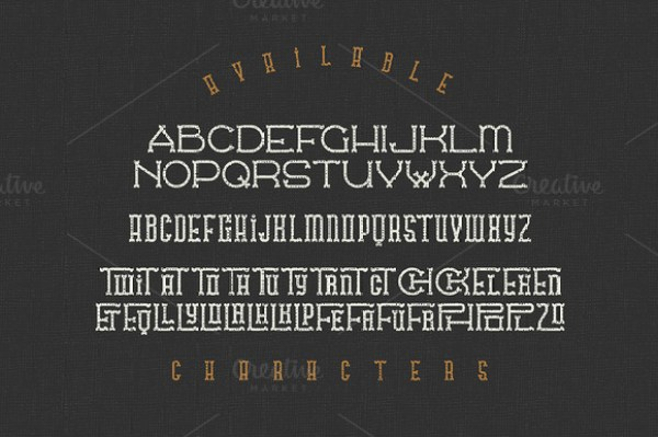 Traveller typeface 4