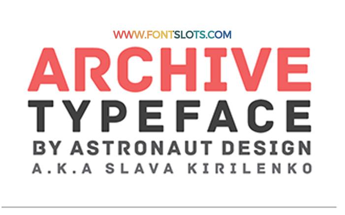 Archive Font