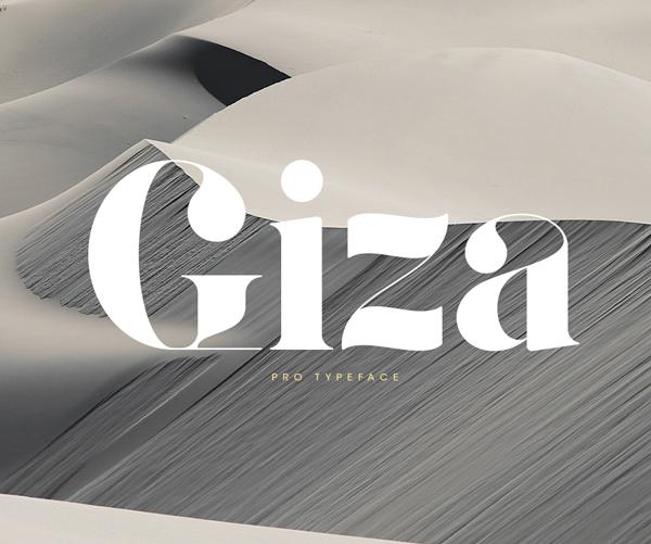 Giza Stencil Font