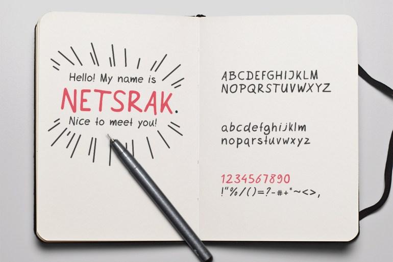 Netsrak Font