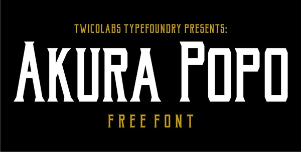 Akura Popo Font