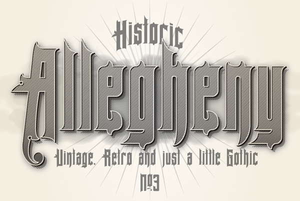 Allegheny PA Font