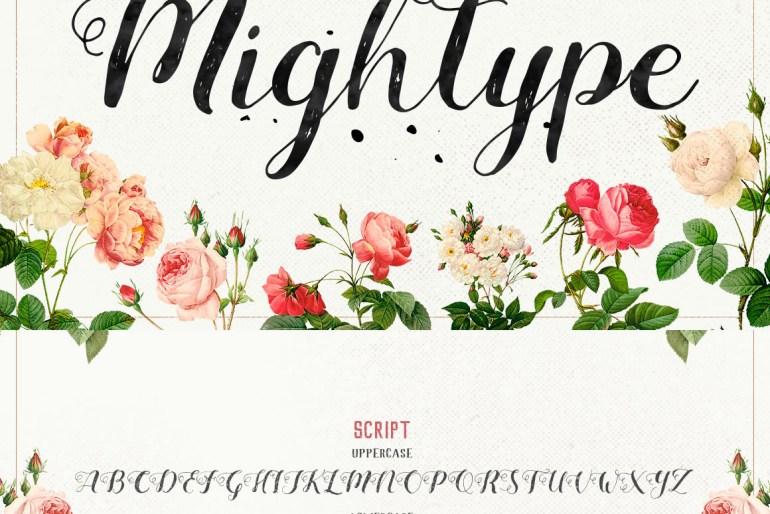 Mightype Script Font