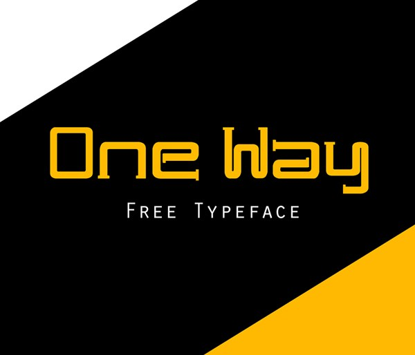 One Way Font