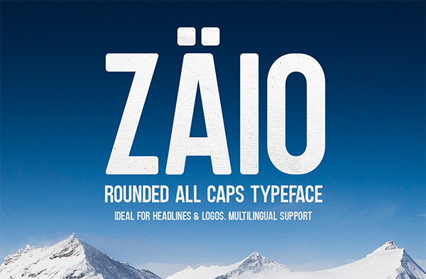 Zaio Rounded Font