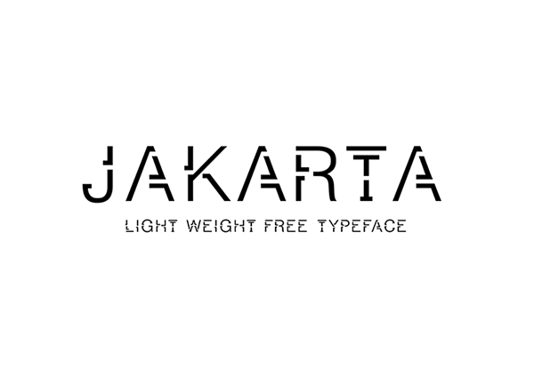 Jakarta Typeface Font
