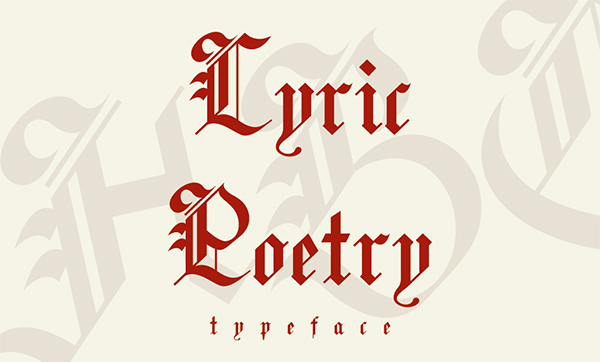 lyric-poetry-typeface